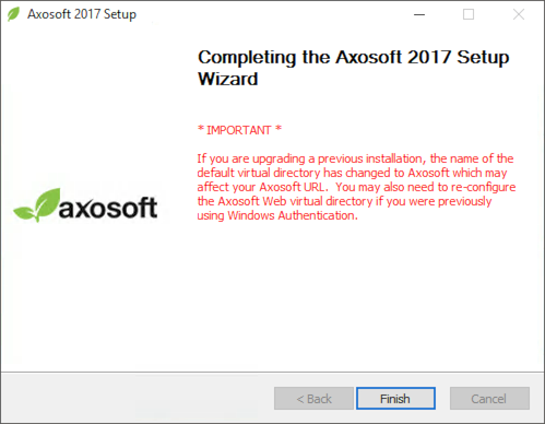 Web Server Setup   Axosoft Documentation