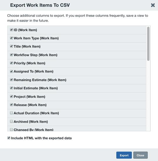 Exporting Data | Axosoft Documentation